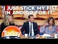 """I JUST STICK MY FIST IN"" - News Blooper 