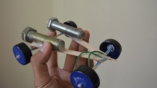 Cara Membuat Mainan Mobil Tenaga karet part 1 - Membuat Mainan Murah