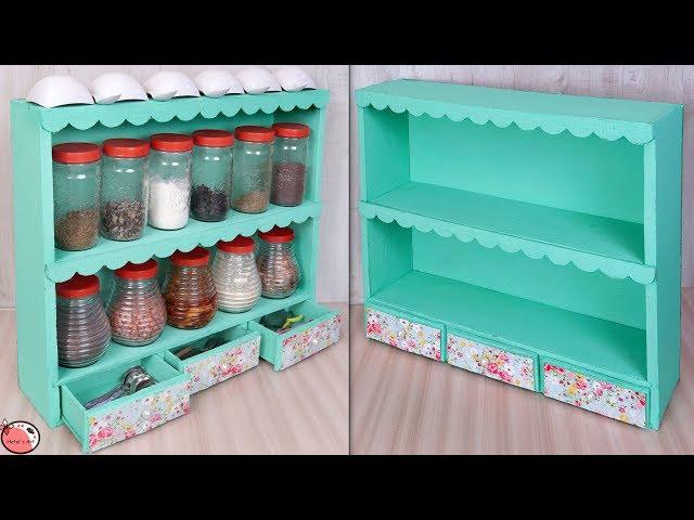 Easy !! Best Out Of Waste Idea    DIY - Kitchen Organizer