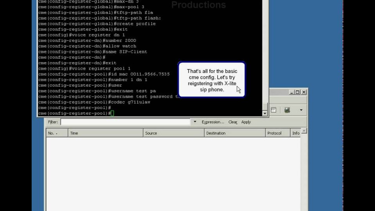 Cisco Call Manager Express 4 SIP config - howto - YouTube
