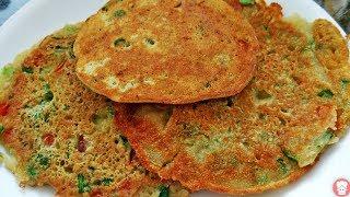 सुबह का नाश्ता हो या बच्चो का टिफ़िन झटपट बनाये वेज रवा पैनकेक,East Tasty Breakfast and tiifin recipe