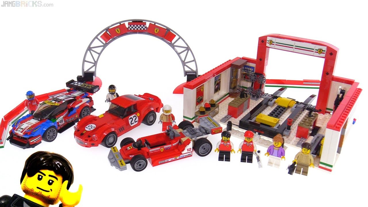 lego speed champions ferrari ultimate garage review 75889 youtube. Black Bedroom Furniture Sets. Home Design Ideas