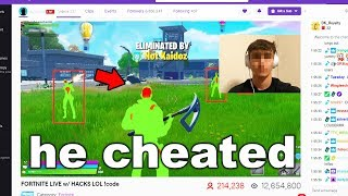 I found a HACKER Streaming On My Fortnite Server LIVE...
