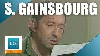 "Serge Gainsbourg ""Ronsard 58"" en direct dans ""Apostrophes"" - Archive INA"