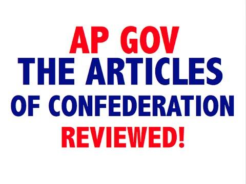 AP GOV Explained Articles of Confederation