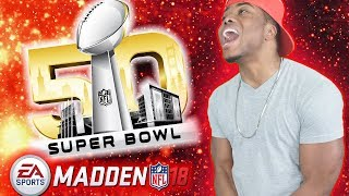 FIRST SUPER BOWL GAME VS CAM NEWTON! | Madden 18 Ultimate Team Gameplay (MUT 18)