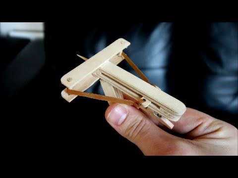 How to make a paper crossbow with a trigger