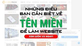 Những Điều Cần Biết Về Tên Miền Để Làm Website Bán Hàng