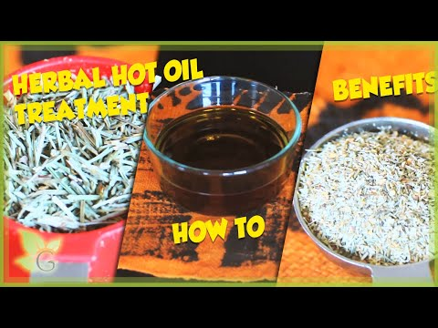 How to ~ Home Made Herbal Hot Oil Treatment and Benefits (Natural Hair)