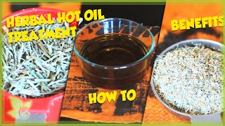 How to ~ Home Made Herbal Hot Oil Treatment and Benefits (Natural Hair) Thumbnail