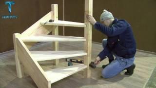 видео Монтаж деревянных лестниц