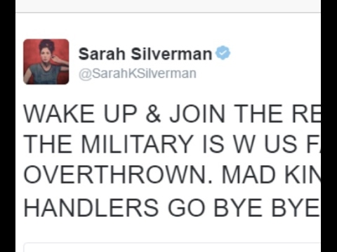 Sarah Silverman Demands Violent Military Uprising Against Trump