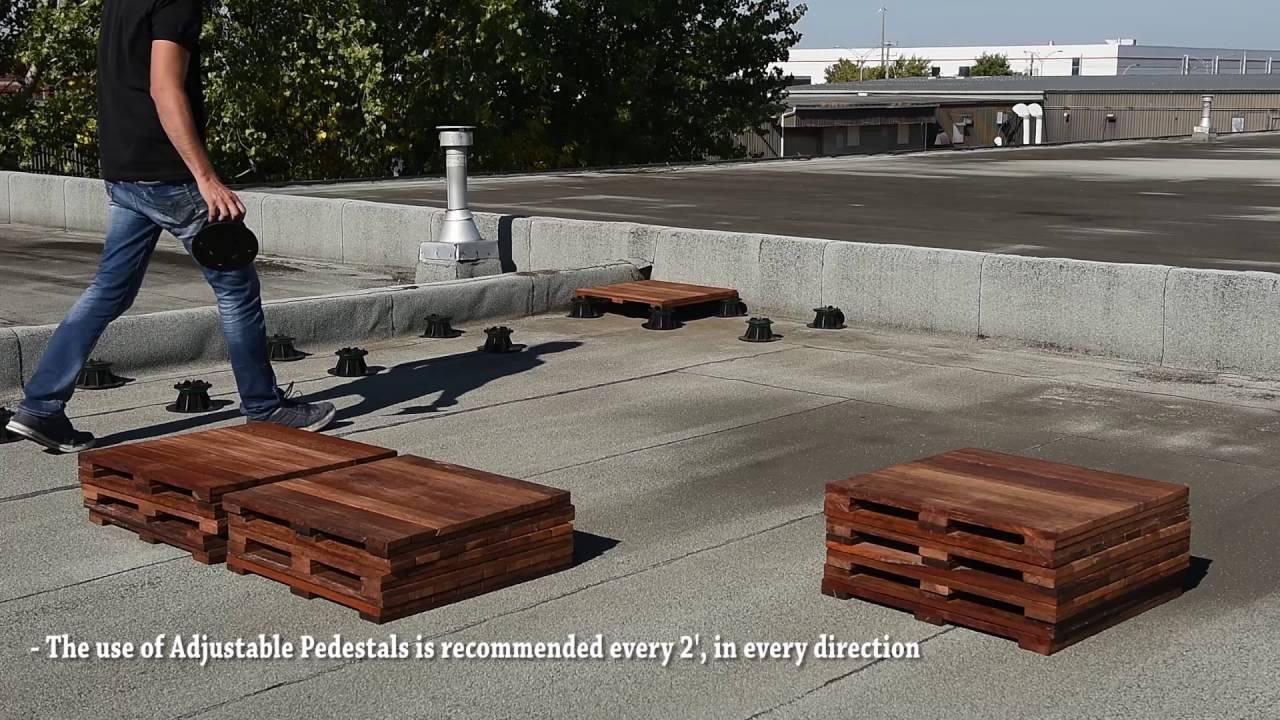 Rooftop Deck Tiles Installation