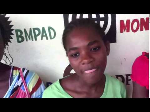 the video of the three sponsored girls of Haiti Scholarship who are to be in 7th grade in secondary