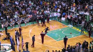 Cleveland Cavaliers pre-game warmup with LeBron James 3-pointers