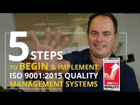 HOW TO BEGIN ISO 9001:2015 in 5 STEPS - Quality Management System Basics
