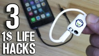 3 Life Hacks and Gadgets that cost 1$