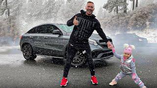 Мерседес AMG пора чинить! / Попал в снежную бурю в горах Калифорнии