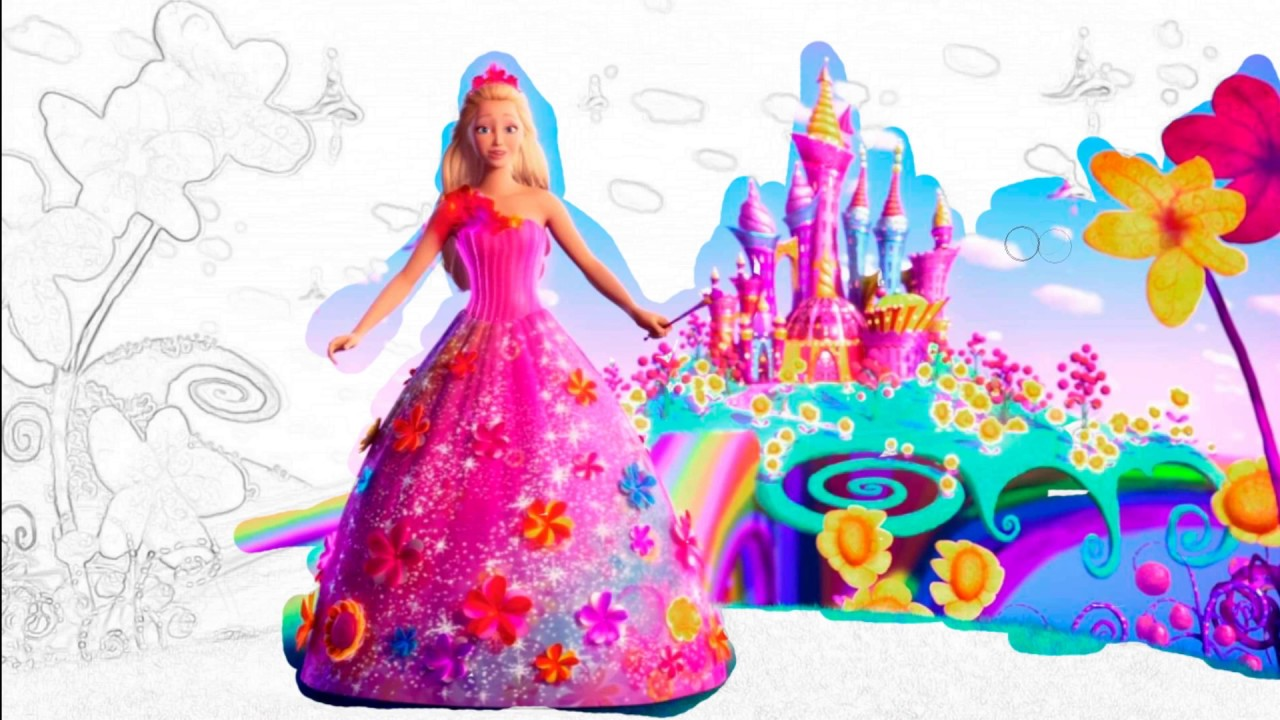 Top Nursery Rhymes Disney Barbie For Kids Coloring Book Pages For