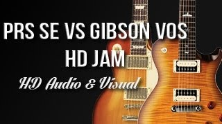 PRS SE 245 vs Gibson Les Paul 1958 VOS - Blues Rock Jam