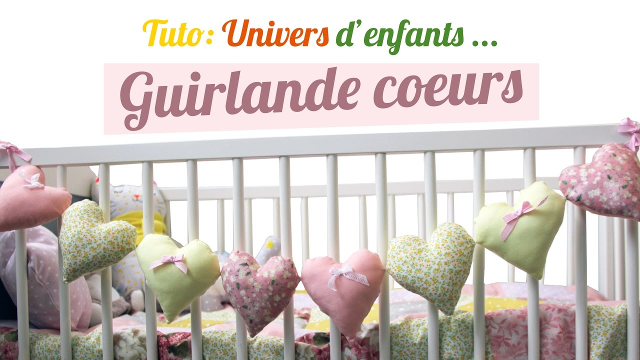 DIY Guirlande de coeurs pour décorer une chambre d\'enfant
