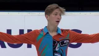 Егор Мурашов Россия | ISU Гран при (юниоры) 2018 Каунас | Произвольная программа (юноши)