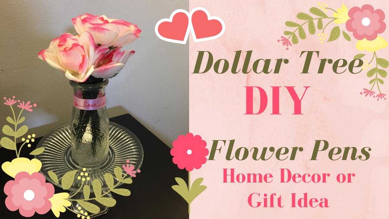 Dollar Tree Diy Flower Pens Home Decor Gift Idea 2017 Cruzzinwithcrystal