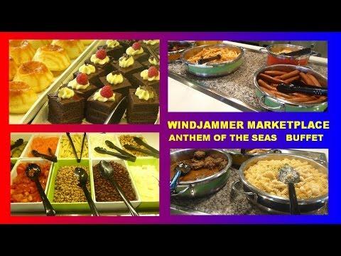 ANTHEM OF THE SEAS - BUFFET -  FOOD - WINDJAMMER - ROYAL CARIBBEAN - TOUR  ESSEN