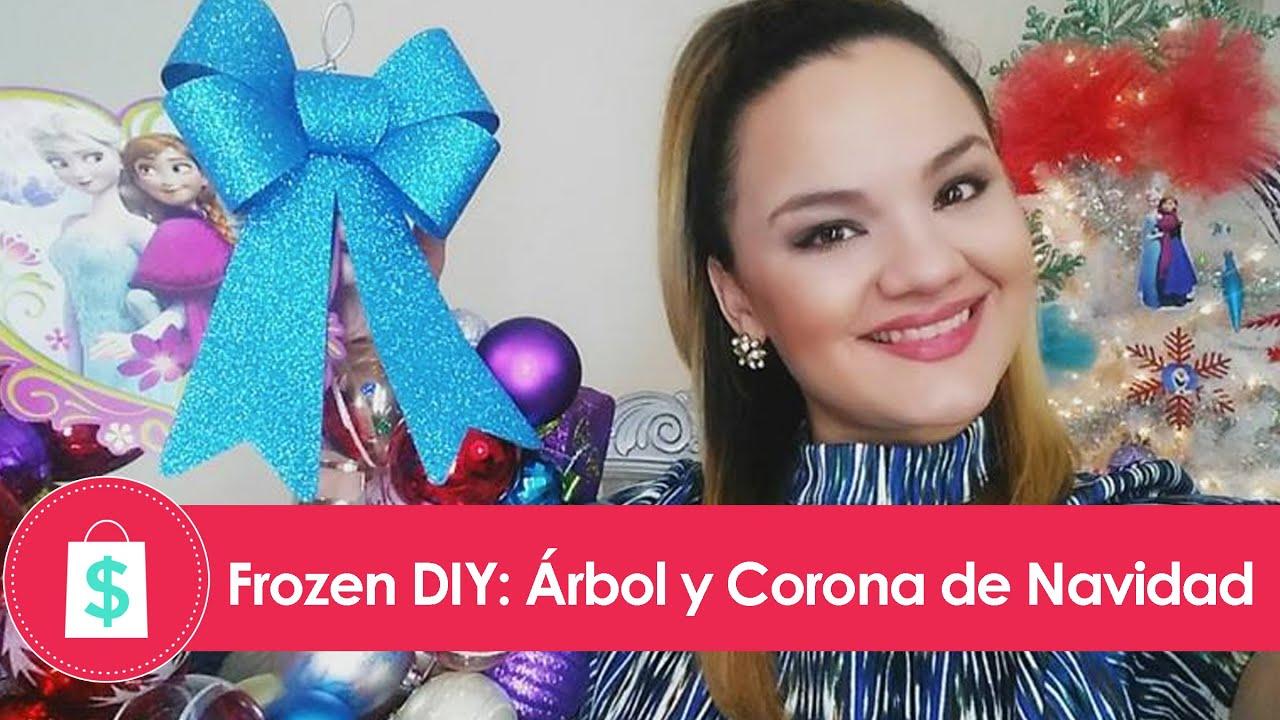 Frozen diy ideas para decorar el arbol de navidad y corona con manualidades por la shoppinista - Manualidades para decorar el arbol de navidad ...