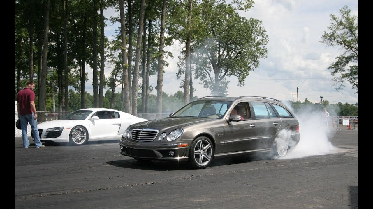 Audi R8 Vs Mercedes Benz E63 Amg Wagon Car And Driver