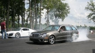 Audi R8 vs. Mercedes-Benz E63 AMG Wagon - CAR and DRIVER
