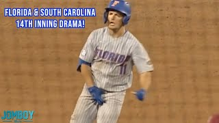 Florida Player Grabs Nuts After Go-Ahead Homer in the 14th inning, a breakdown