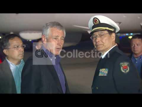 CHINA:U-S DEF SEC. HAGEL ARRIVES IN BEIJING