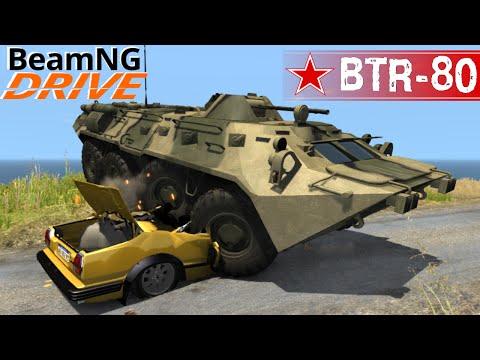 BeamNG DRIVE mod armoured transporter BTR-80