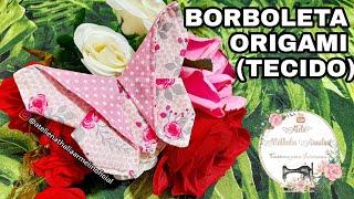 Borboleta Origami De Tecido