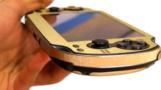 Ps Vita Ultimate Gold Skin Case Cover Thing!