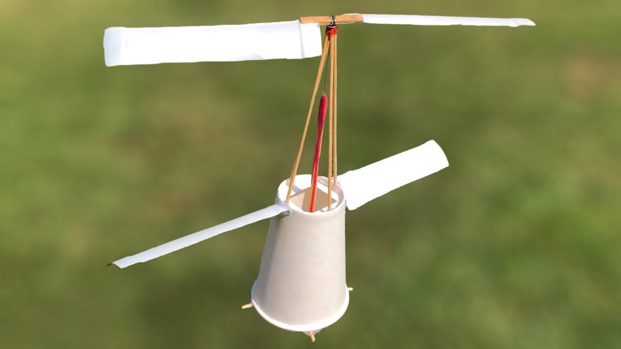 Download How to Make a Helicopter at Home - DIY Flying Cup