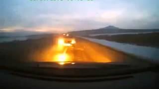 Молниеносная реакция водителя ДТП! Авария! Видеорегистратор