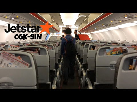 JETSTAR ASIA Flight Experience   Jakarta to Singapore 3K212