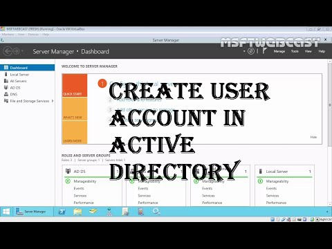 MCSA (70-410): 04 How to Create User Account in Active Directory 2012 R2