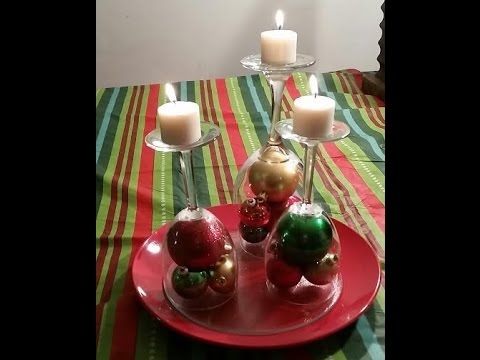 Dollar Tree CHRISTMAS CANDLE CENTERPIECE DIY Craft