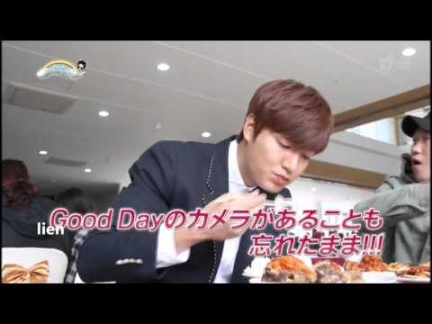 HD Lee Min Ho eating - The Heirs behind the scene
