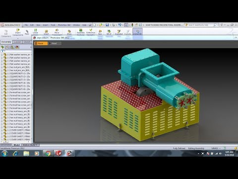 How to Create Assembly with Mechanical Mates in Solidworks (PLODDER MACHINE MODEL-2018)