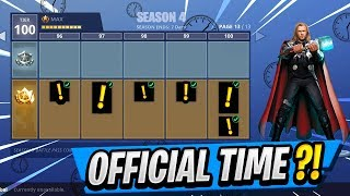 NEW Battle Pass Release Time! | Season 4 SKINS Discovered! ( Fortnite Update )