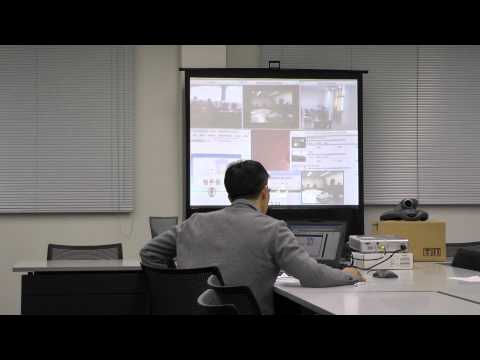 Lecture broadcasting into Japan and Indonesia