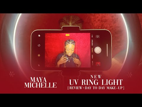 new!!-uv-ring-light-review-+-day-to-day-make-up-with-maya-michelle
