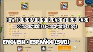 How to upgrade GOLD CARD into RED CARD! - Tales of Wind | Laplace M