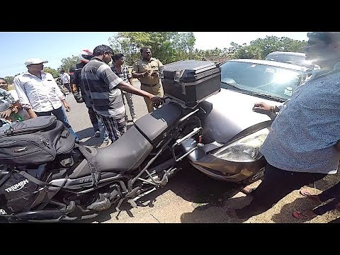 MET WITH A BAD ACCIDENT | Pondy to Hyd