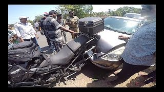 CRAZY ACCIDENT | Maruti SWIFT hits Triumph TIGER and..