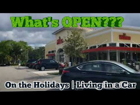 LIVING IN A CAR | Finding a Food Store on the Holidays